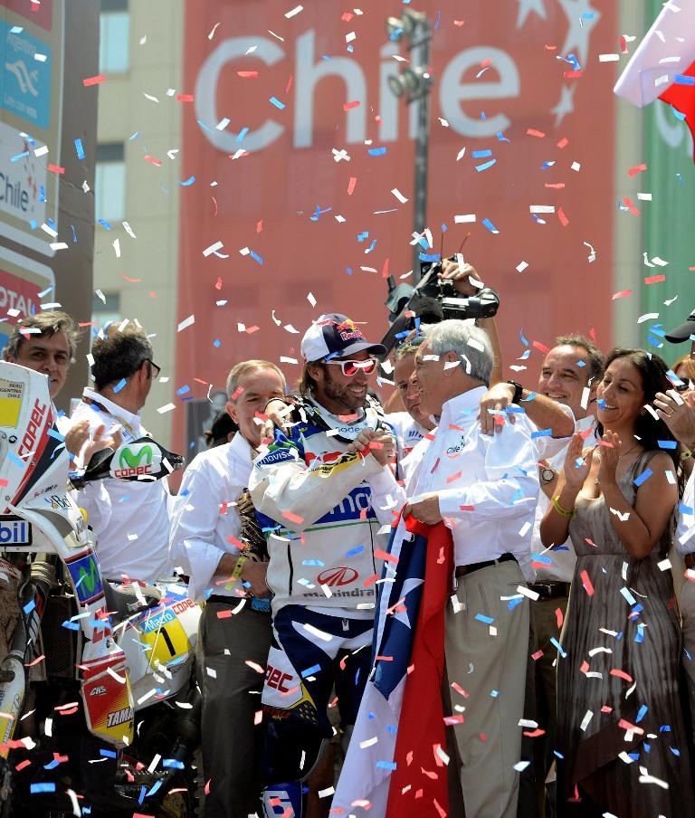 Premiación del Rally Dakar 2013