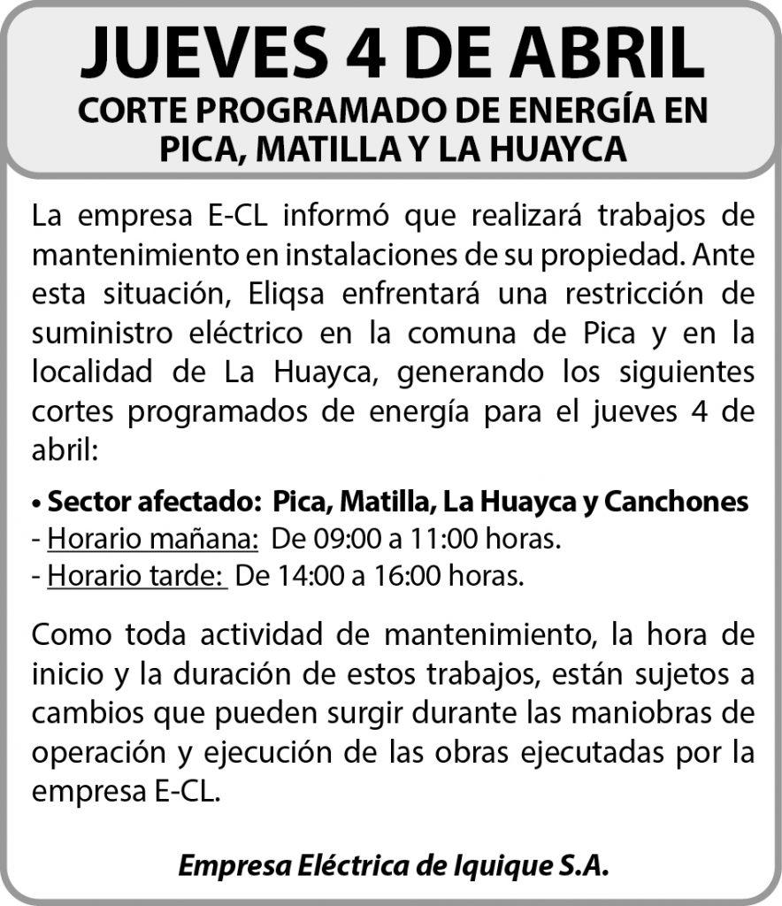 Anuncio Empresa Electrica de Iquique S.A.