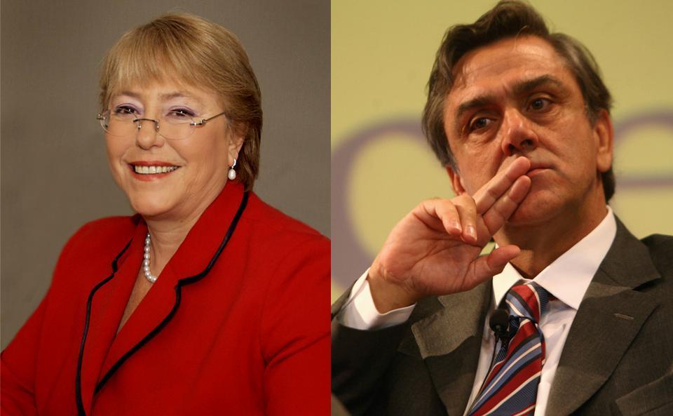 Michelle Bachelet y Pablo Longueira