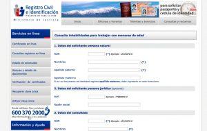 Portal de Registro Civil e Identificacion
